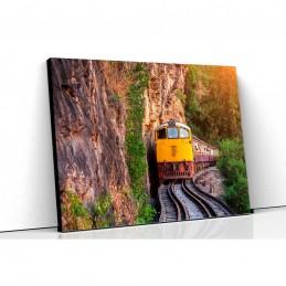 Tablou canvas tren la munte