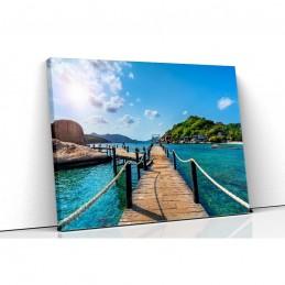 Tablou canvas ponton resort...