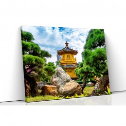 Tablou canvas templu hong kong
