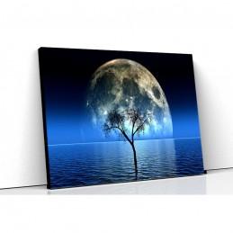 Tablou canvas moon tree see