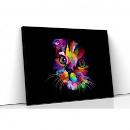 Tablou canvas colorful cat
