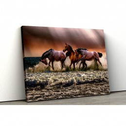 Tablou canvas horses by the...