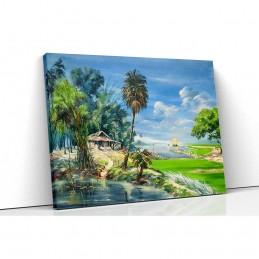 Tablou canvas green island