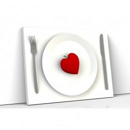 Tablou canvas heart plate