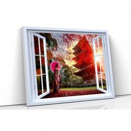 Tablou canvas fereastra...