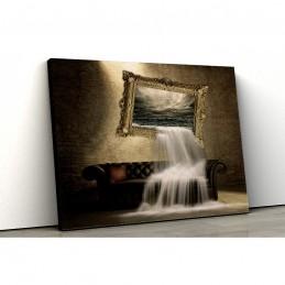Tablou canvas cascada abstract