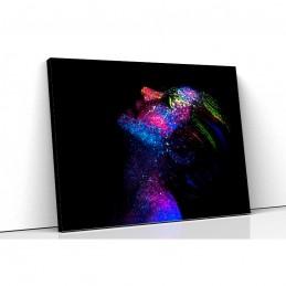 Tablou canvas colorful face