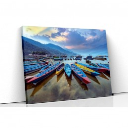 Tablou canvas boats on the...