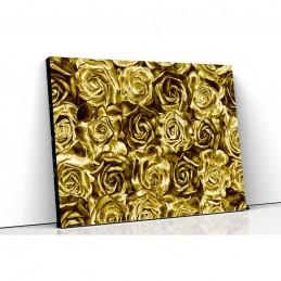 Tablou canvas trandafiri gold