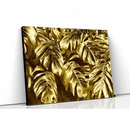 Tablou canvas frunze gold